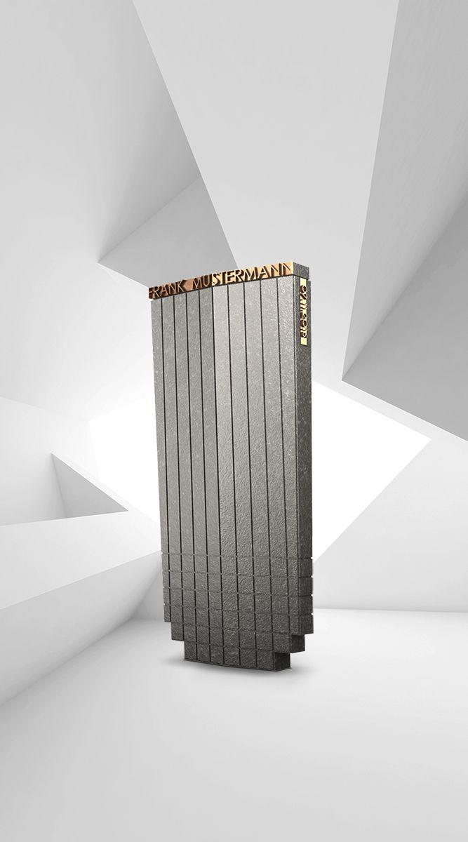 Bezaubernd Klepfer Naturstein Beste Wahl Grabstein Modell Delta | Granit Nero Assoluto