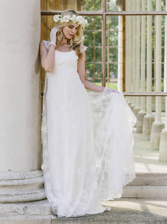 Rent designer wedding dress  Bridal wedding shoot at Kew Gardens AURELIE EVP  Collection