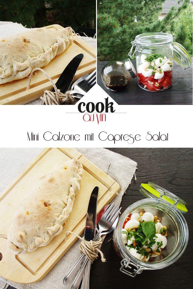 Lunch to Go: Mini Calzone mit Caprese / Tomaten-Mozarella Salat