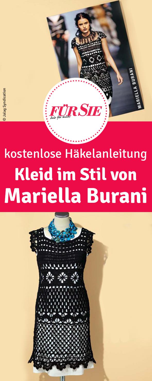 Kleid im Stil von Mariella Burani häkeln | Häkelanleitung ...