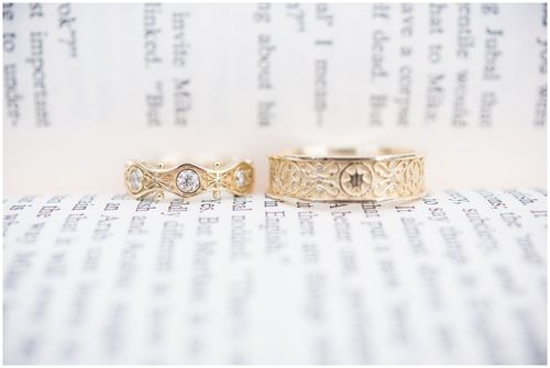 I Don T Know If Anyone Remembers This Picture From Right After Tangled Ever After Came Out Of Rapunze Disney Wedding Rings Titanium Wedding Rings Wedding Rings