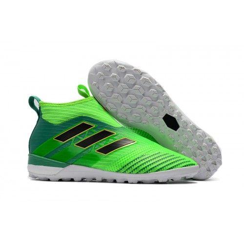 14aa809e7f Adidas ACE - Chuteira Society Adidas ACE Tango 17 Purecontrol Society TF  Verdes Preta Branca