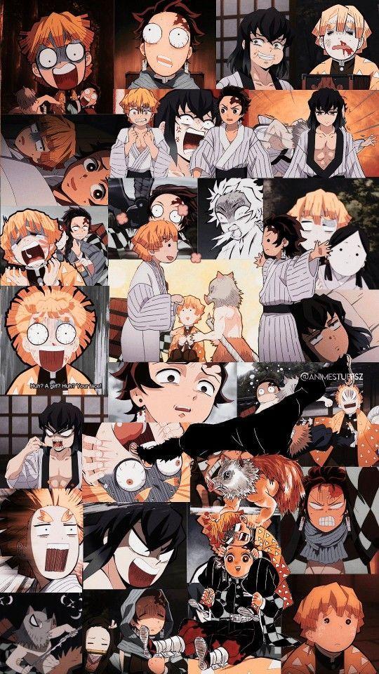 Tanjiro, Zenitsu and Inosuke in 2020 Cute anime