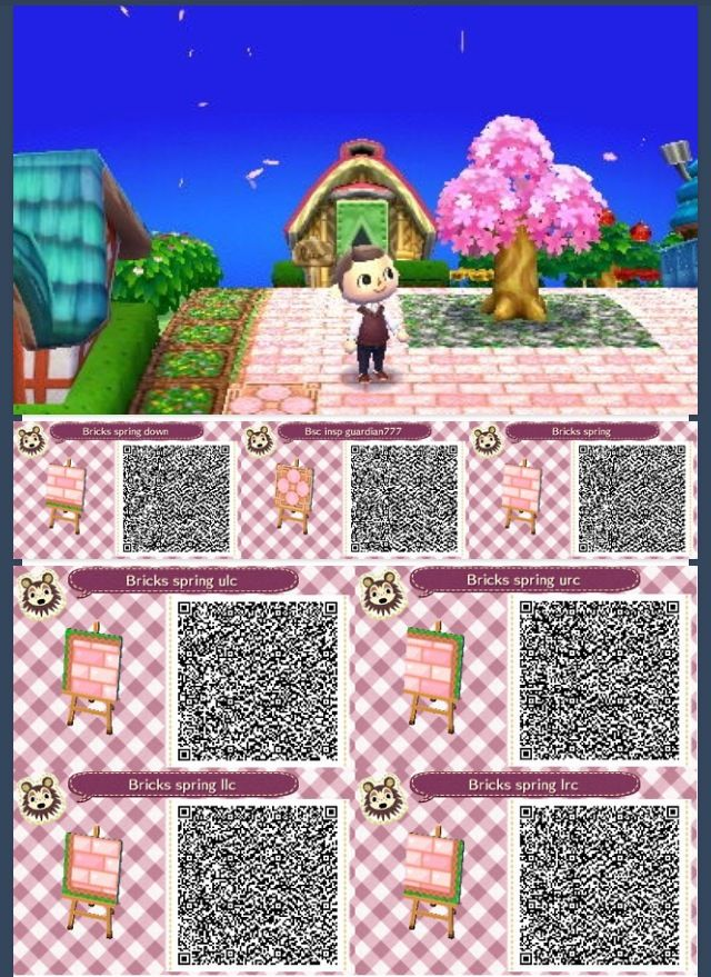 So Cute Acnl Qr Codes Animal Crossing 3ds Acnl Paths Animal