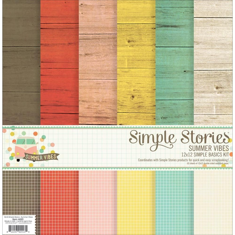 Simple Stories paperipakkaus Snap Summer vibes 12x12
