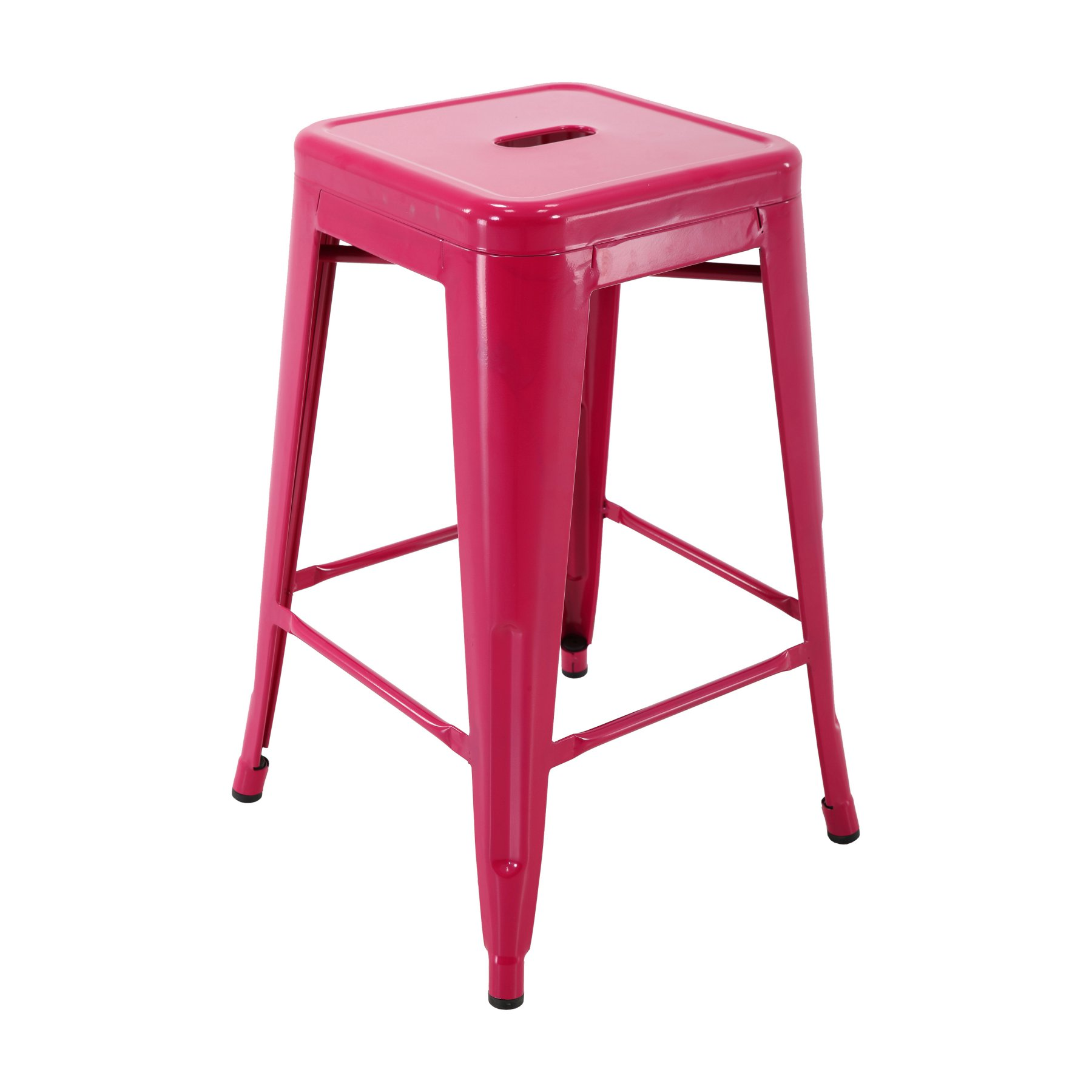 Brage Living 24 In Backless Bar Stool Fuchsia Metal Stool Stool Bar Stools
