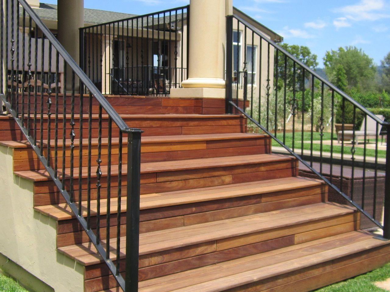 Best Custom Handrail For Stairs By Arbor Fence Inc Stair Handrail Handrail 400 x 300