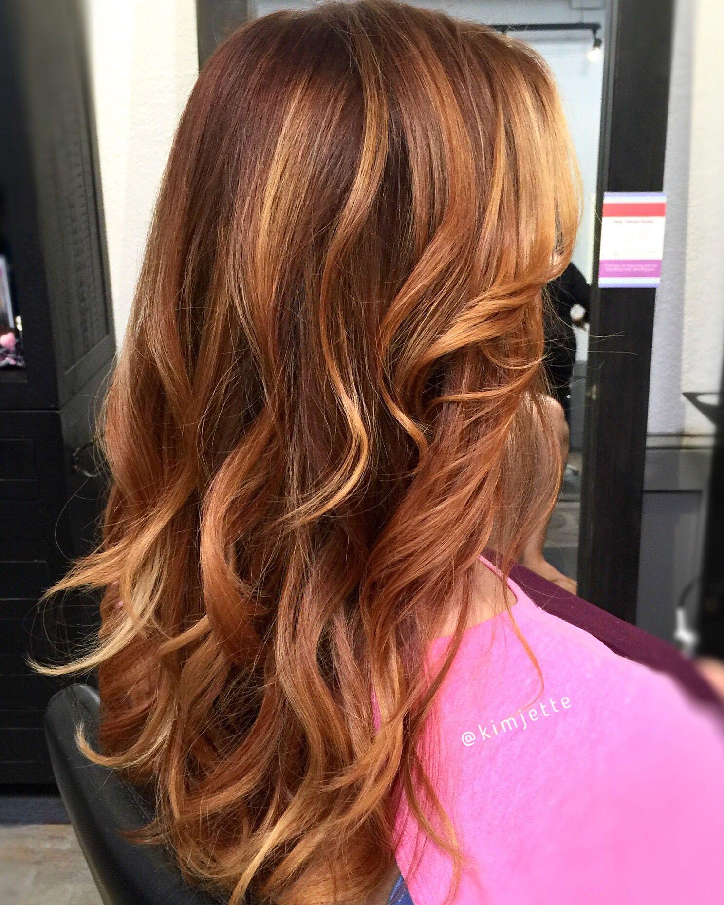 Strawberry blonde highlights | I'm a GIRL | Balayage hair ...