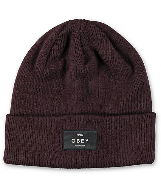 f148fdd950865 The soft ribbed knit material in a deep plum colorway offers superior  comfort and is easy to style so you can look your best from the streets to  the ...