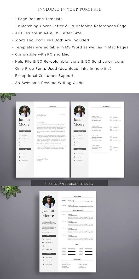 1 Page Professional Resume Template #resumetemplate #resumetemplates - resume template for pages