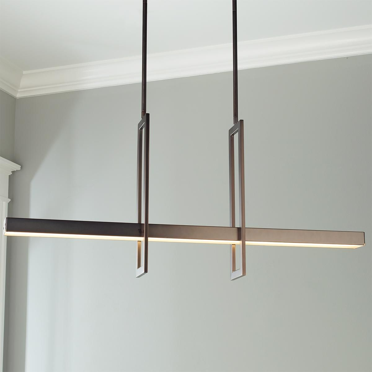 Modern Balance Beam Led Linear Chandelier Decor In 2019