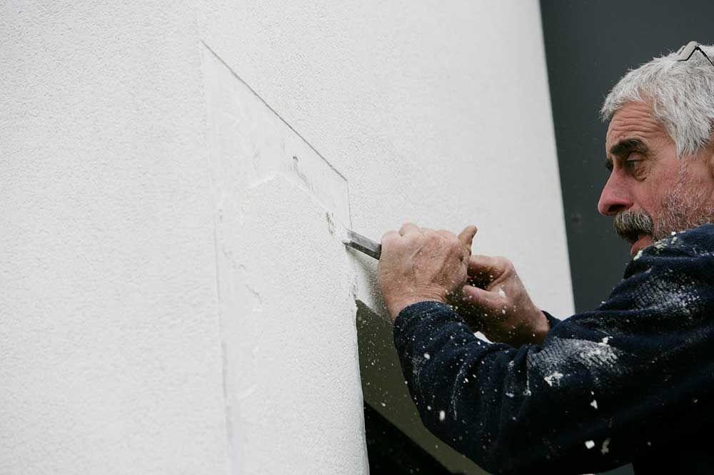 Enlever un crépi intérieur Cloison et aménagement Pinterest - comment boucher une fissure dans un mur exterieur