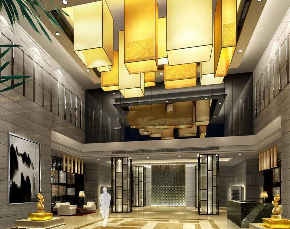 Lobby hotel interior design modern interior design for Hotel building design