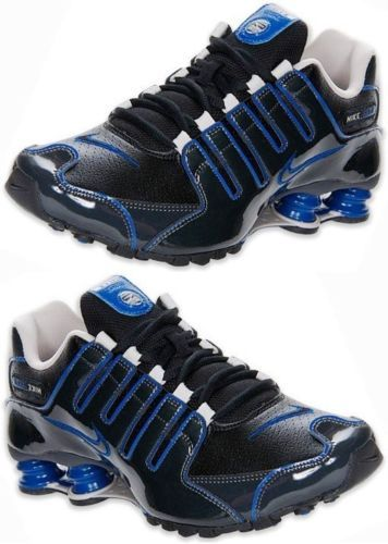 buy online b68f6 e489d Nike Shox NZ Mens Black Blue Anthracite Running Shoe Brand New in Box  Select Sz   eBay