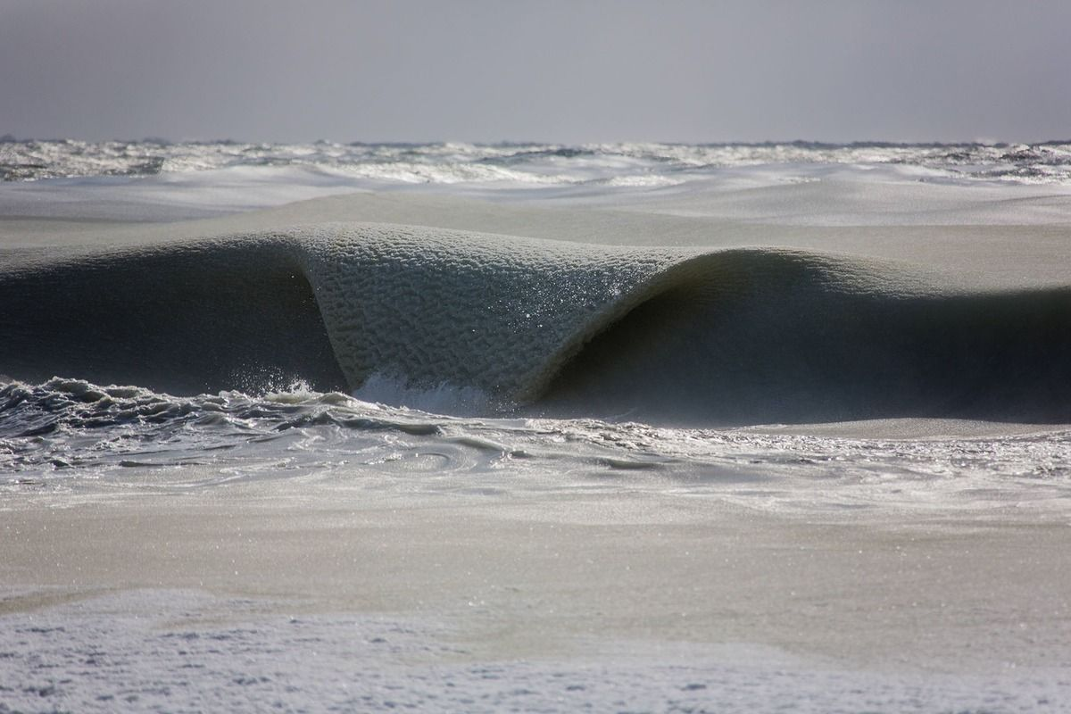 Ocean Waves In Nantucket Are So Friggin Cold, They're Rolling In As Slush!