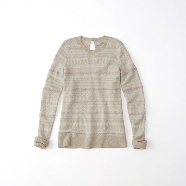 Abercrombie & Fitch Shine Fairisle Pullover Sweater ($41) ❤ liked ...