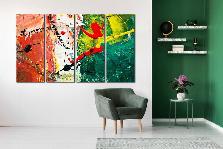 Abstract Colorful Wall Art Wall Art Canvas Wall Decor Canvas