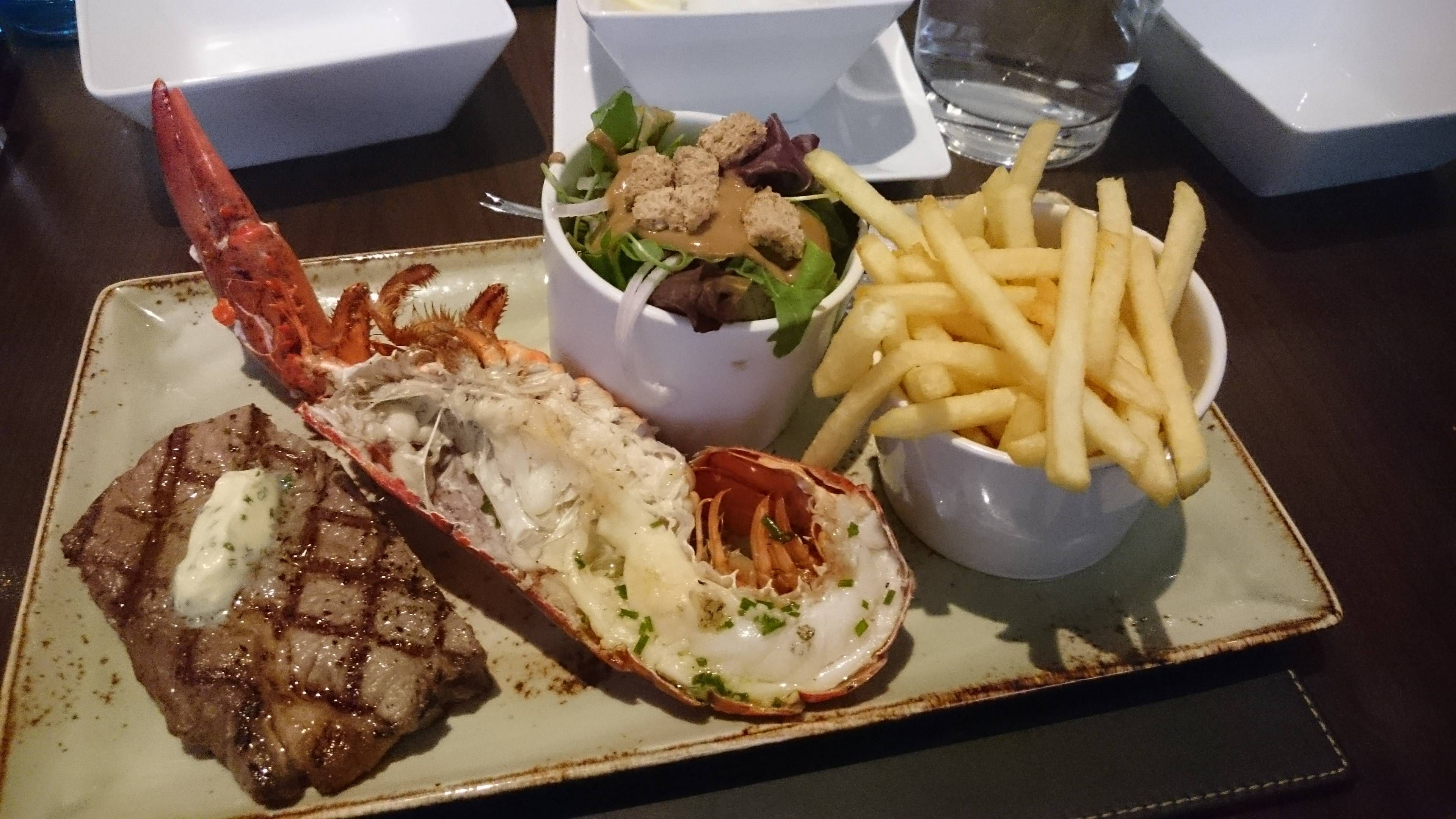 Steak And Lobster From Steak And Lobster Heathrow London R Food Steak And Lobster Food Food And Drink