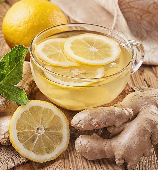 Organic Lemon Ginger Oolong Tea, Full Leaf, in Pyramid Tea Bags