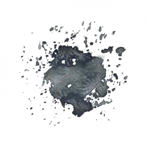 Black Watercolor Splash Design Vector Free Watercolor Design