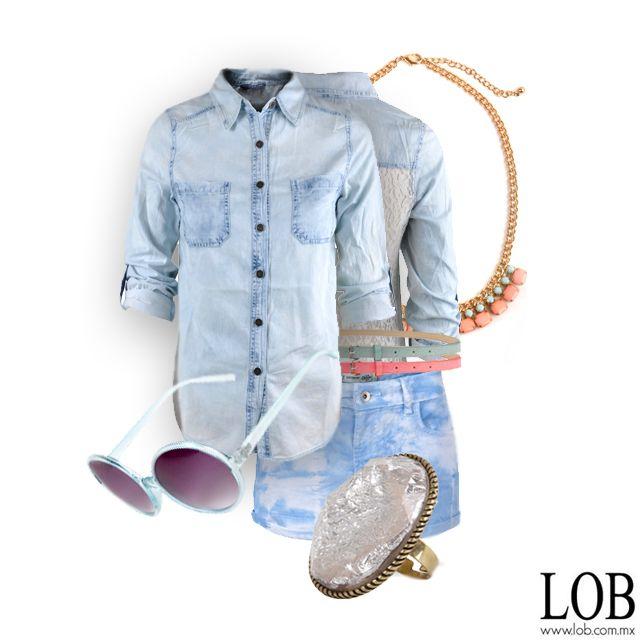 Candy Shop Denim Outfit en www.lob.com.mx #Outfit #Trends #Denim