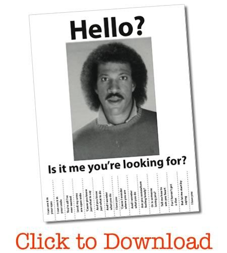 Lionel Richie Wanted Poster - Free PDF Lionel richie, Funny and - free printable wanted poster