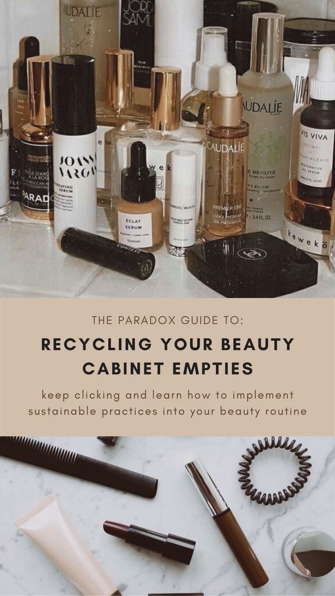 How To: Recycle Beauty Cabinet Empties
