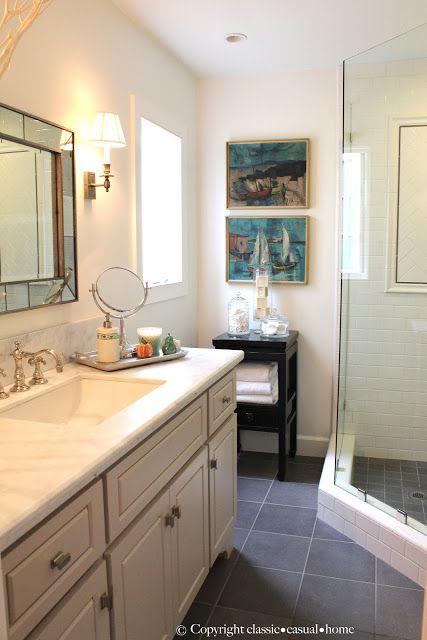 Classic casual home classic beach like color combo for Casual bathroom ideas