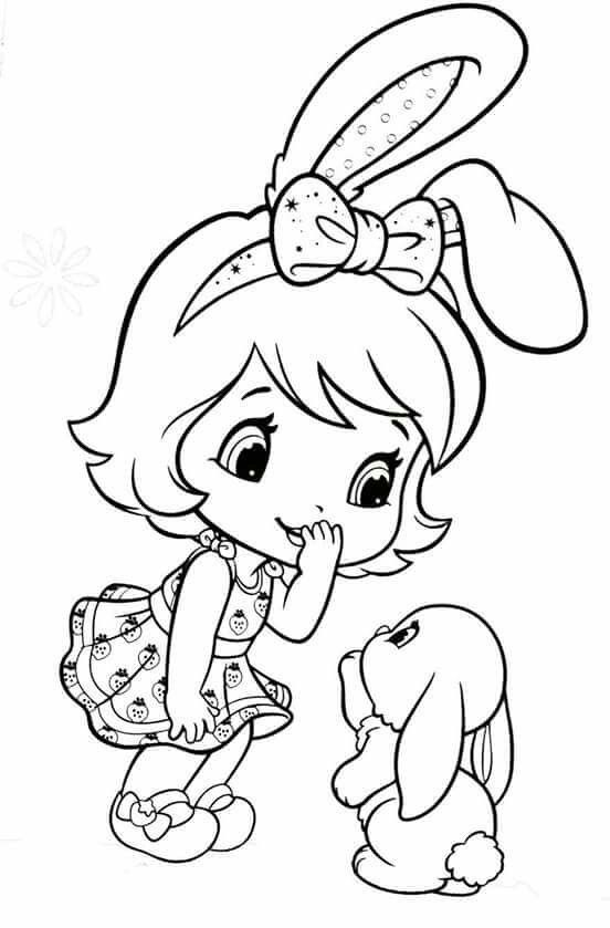 Bunny Strawberry Coloring Pages Strawberry Shortcake Coloring