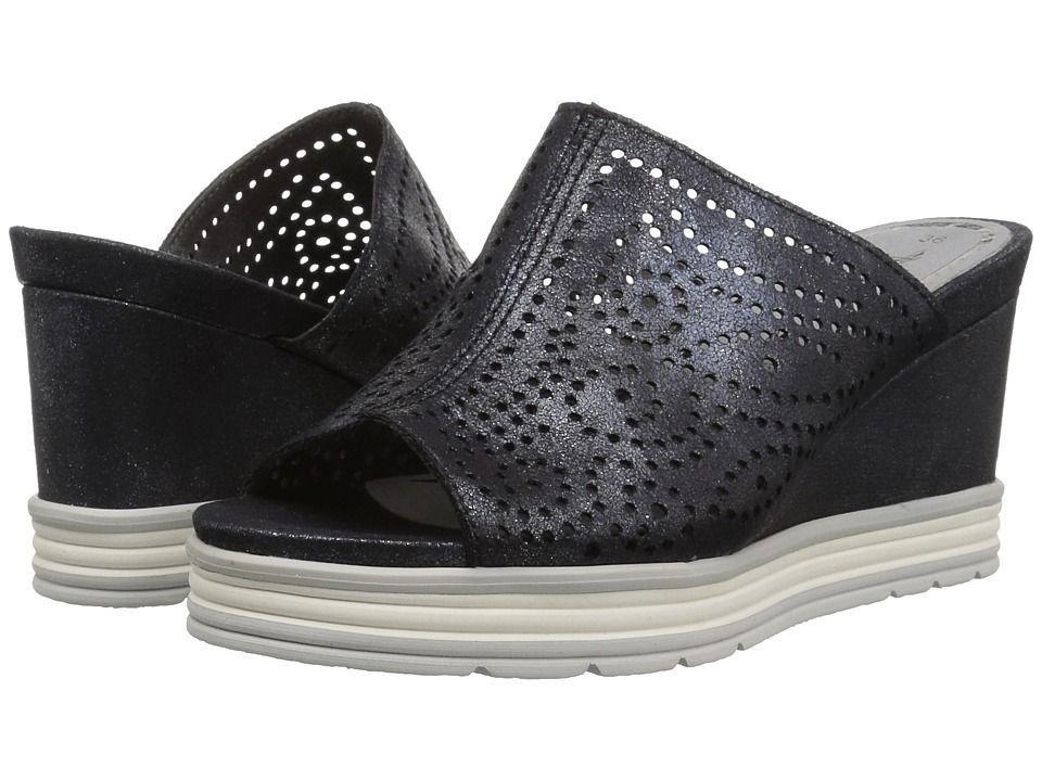 421d51918 Tamaris Alis 1-1-27236-20 Women s Clog Mule Shoes Navy Metallic  mulesshoes