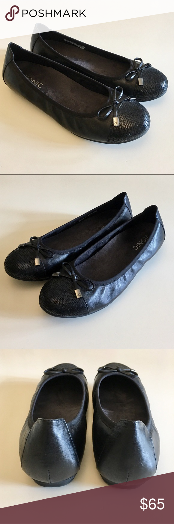Vionic Like New Black Ballet Flats Great pre-loved condition.  I may have wore t… – My Posh Picks