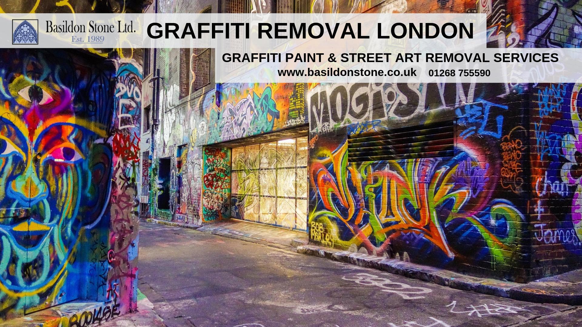 Basildon stone provides a professional and cost effective graffiti removal service