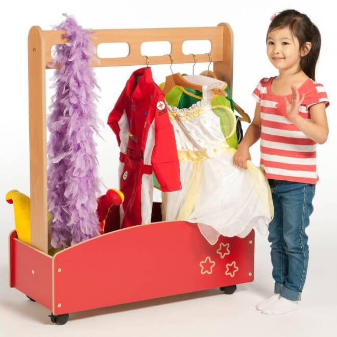 Dress Up Rail With Wheeled Container