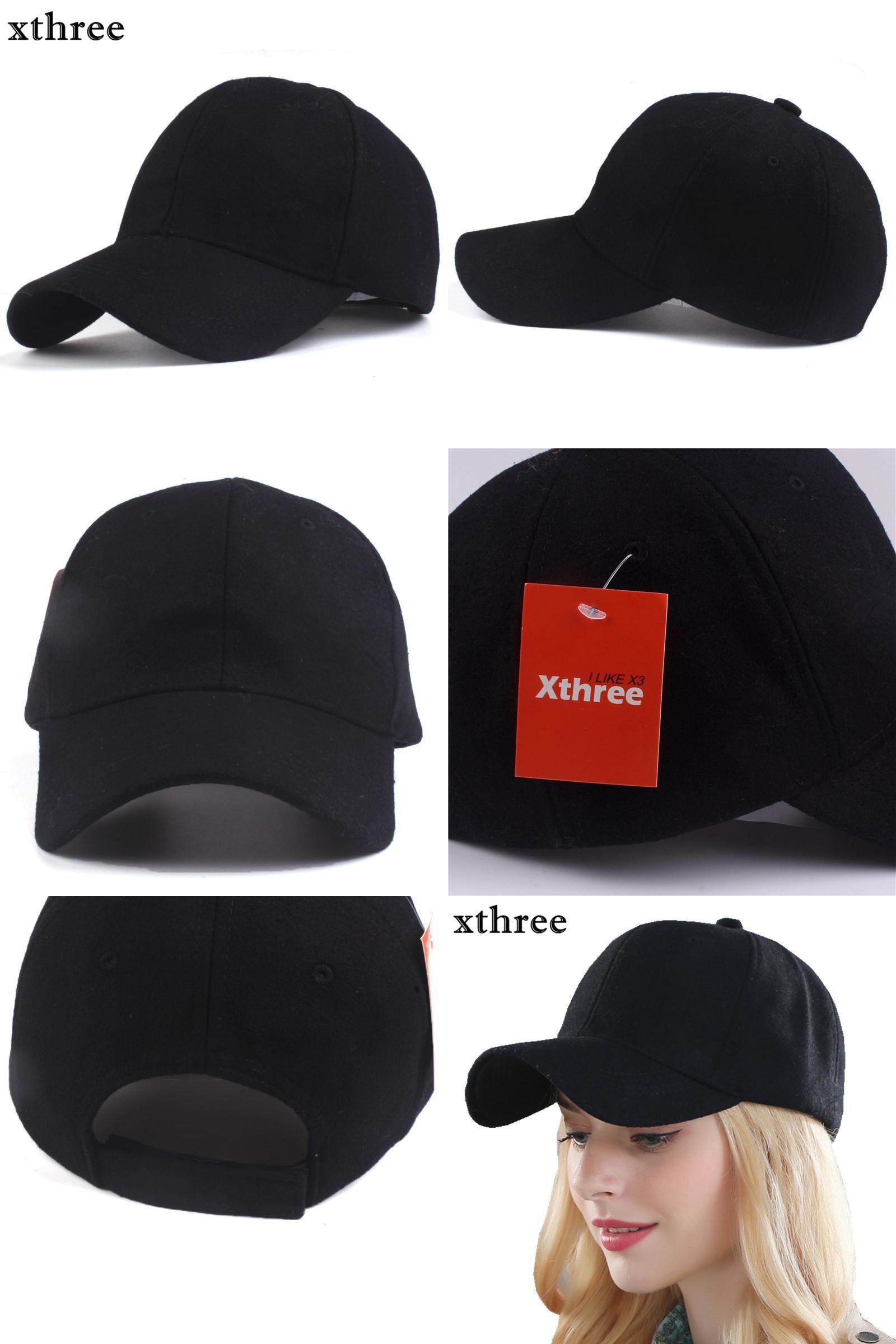 a4d8a3e796d  Visit to Buy  Xthree solid men s wool baseball cap winter cap warm bone  snapback