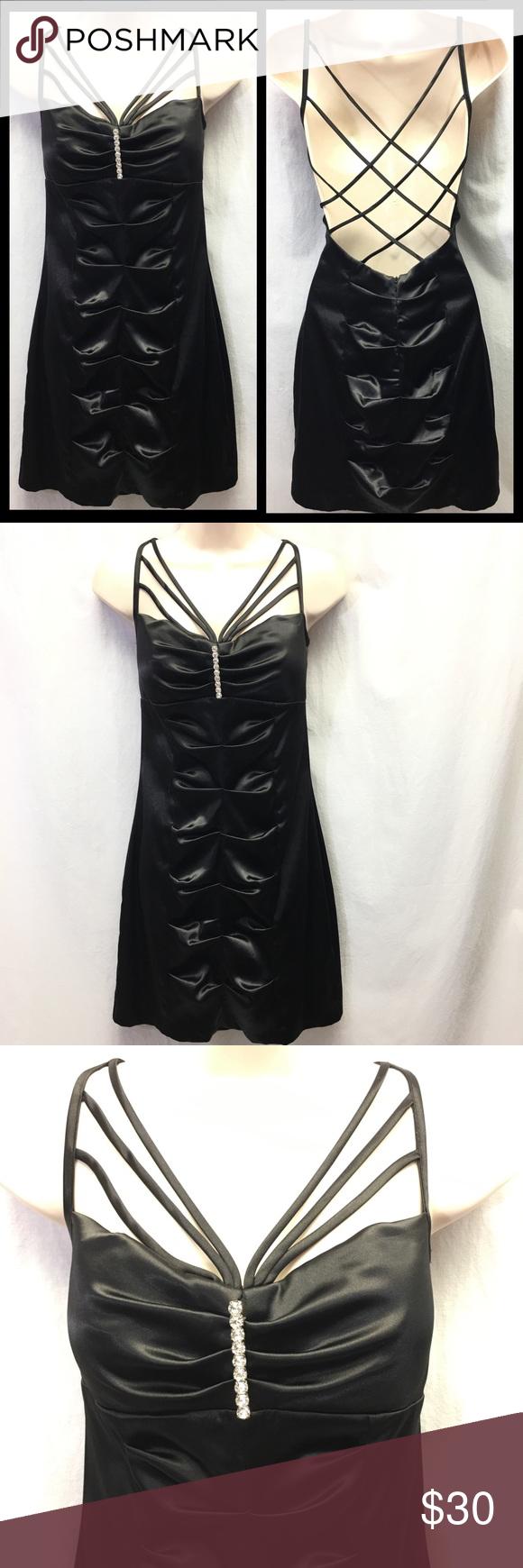 B smart black ruched dress juniors size shop my poshmark