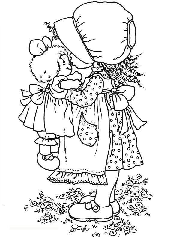 Original Holly Hobbie Coloring Pages Found On Freekidscoloringandcrafts Com Coloring Pages Coloring Books Sarah Kay