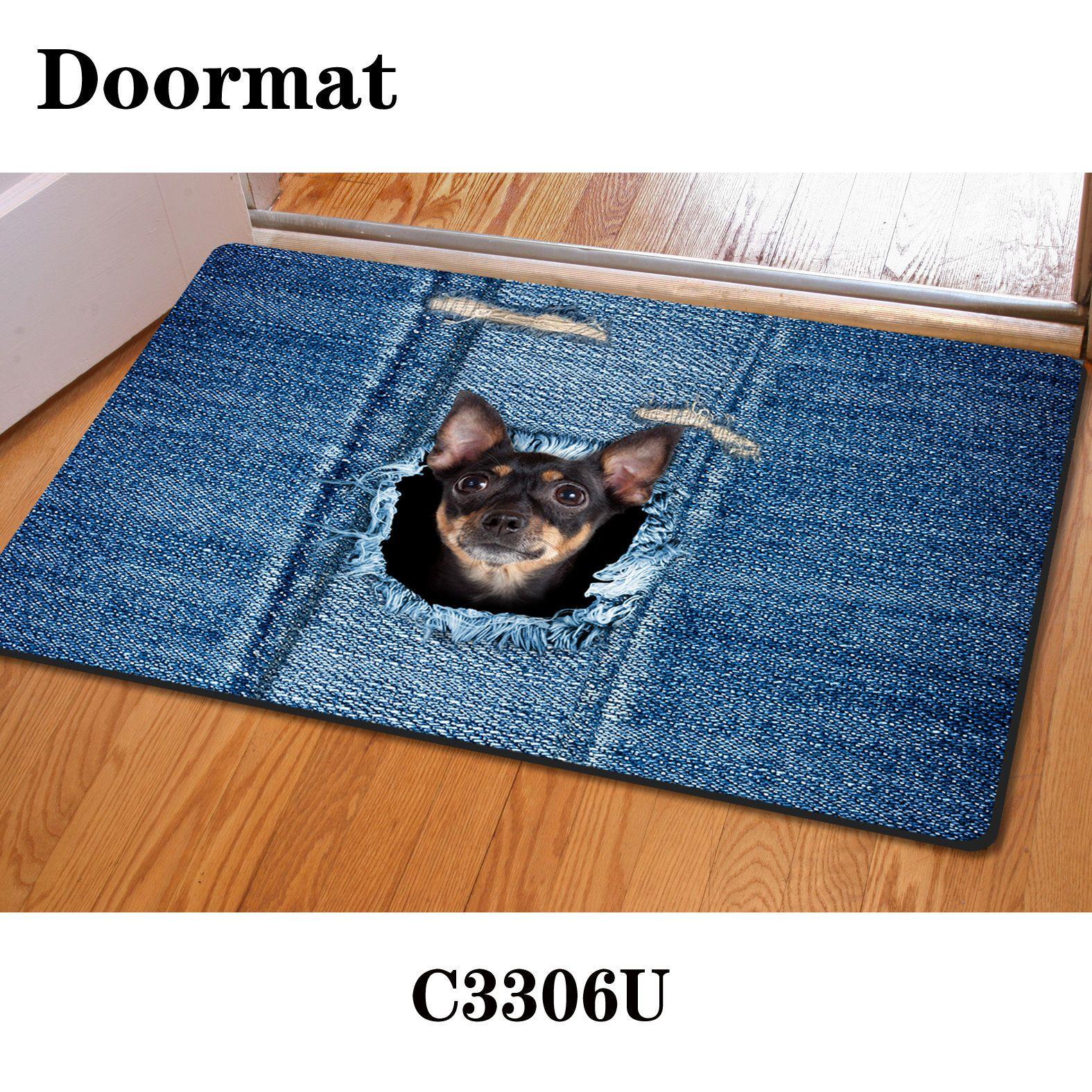 Animals Anti-slip Mat Entrance Floor Rug Carpet Bedroom,Kitchen ...