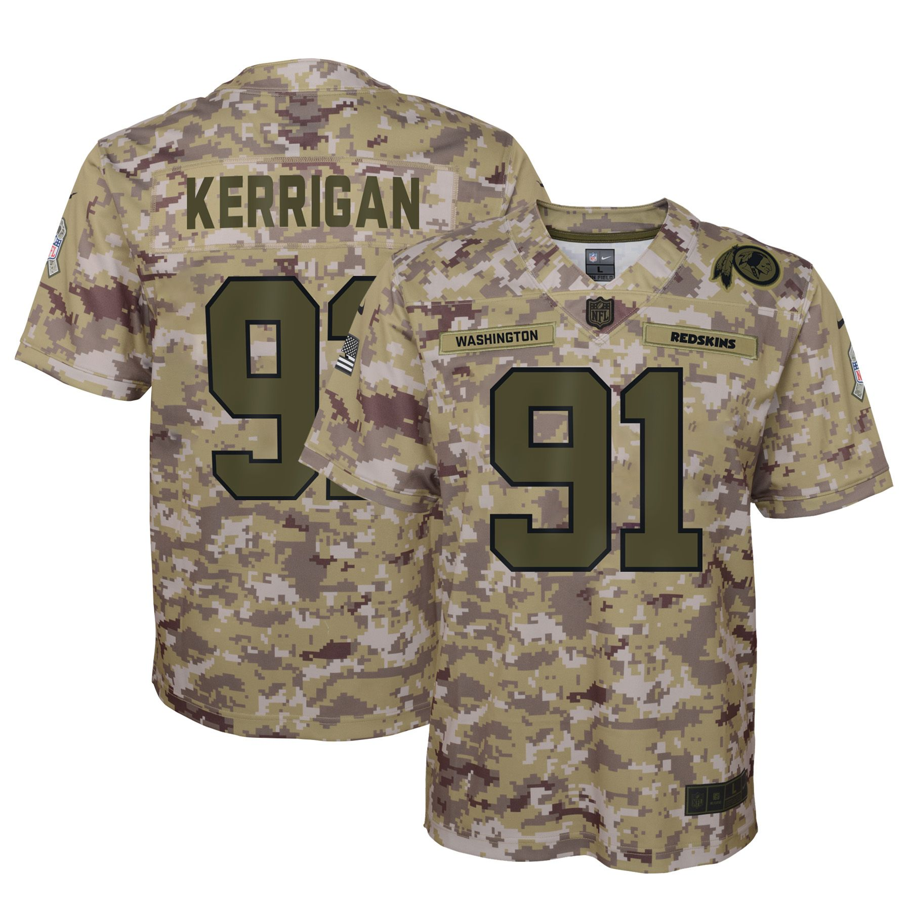 Nike ryan kerrigan washington redskins nike youth salute to service game jersey #salutetoservice