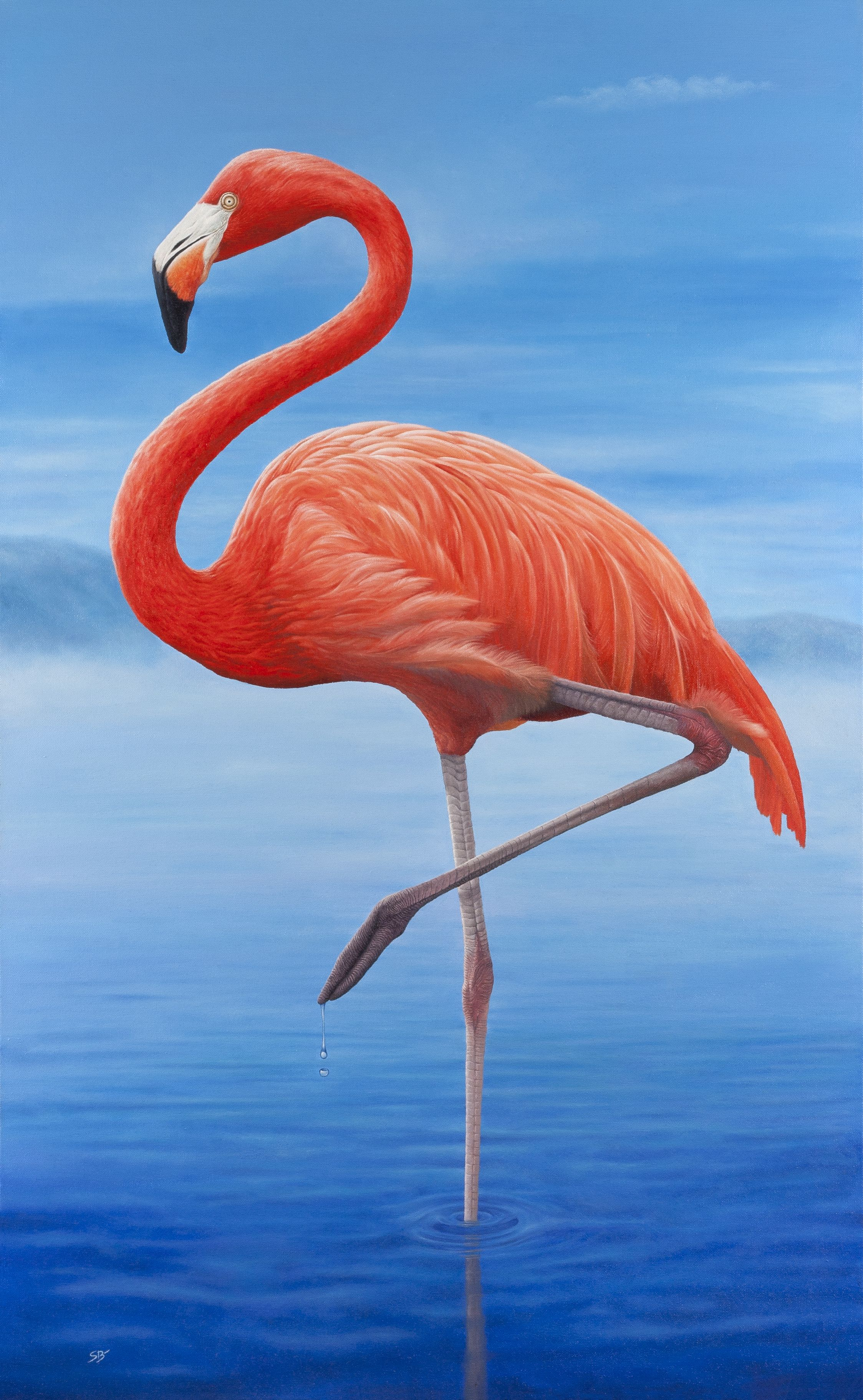 Flamingo Art Print From An Original Oil Painting