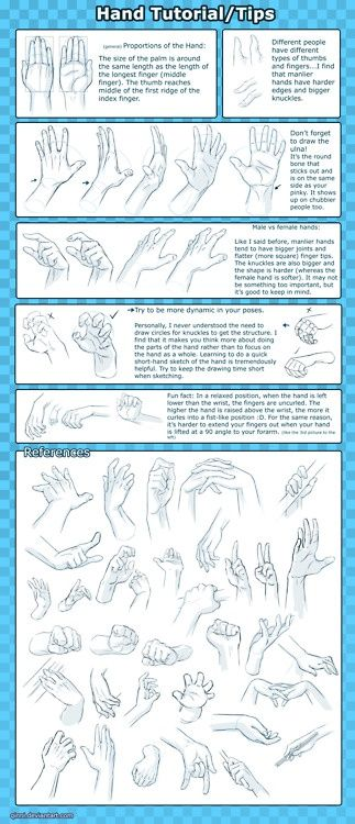 Hands. Tips on drawing hands.