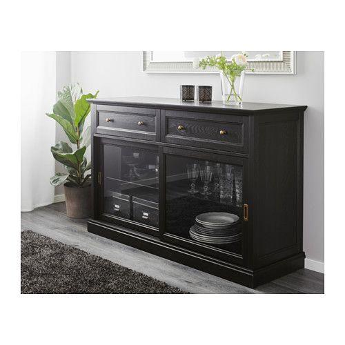 Malsjo Sideboard Black Stained 57 1 8x36 1 4 Ikea Black Sideboard Black Buffet Table Buffet Table Ikea