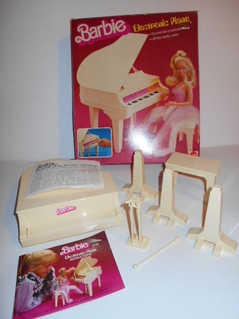 Vintage 1981 Barbie Electronic Grand Piano  Pink Box MINTY IN BOX Sound music #Mattel
