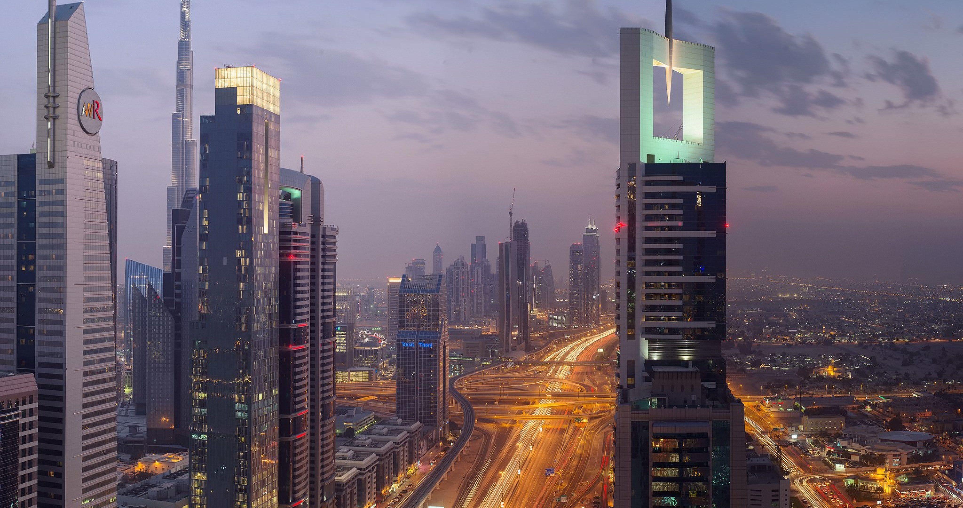 Dubai 4k Wallpaper: Uae City Of Dubai Lights 4k Ultra Hd Wallpaper