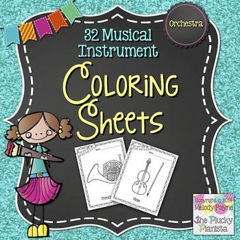 Music Coloring Sheets 32 Orchestra Instruments Music Coloring Sheets Music Coloring Music Worksheets
