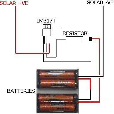 Circuit Diagram of Solar Battery Charger with LM317 | ELECTRICOS ...