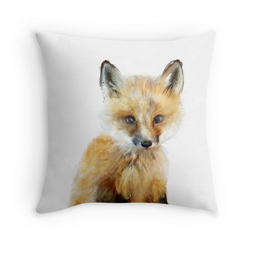 'Little Fox' Throw Pillow by Amy Hamilton