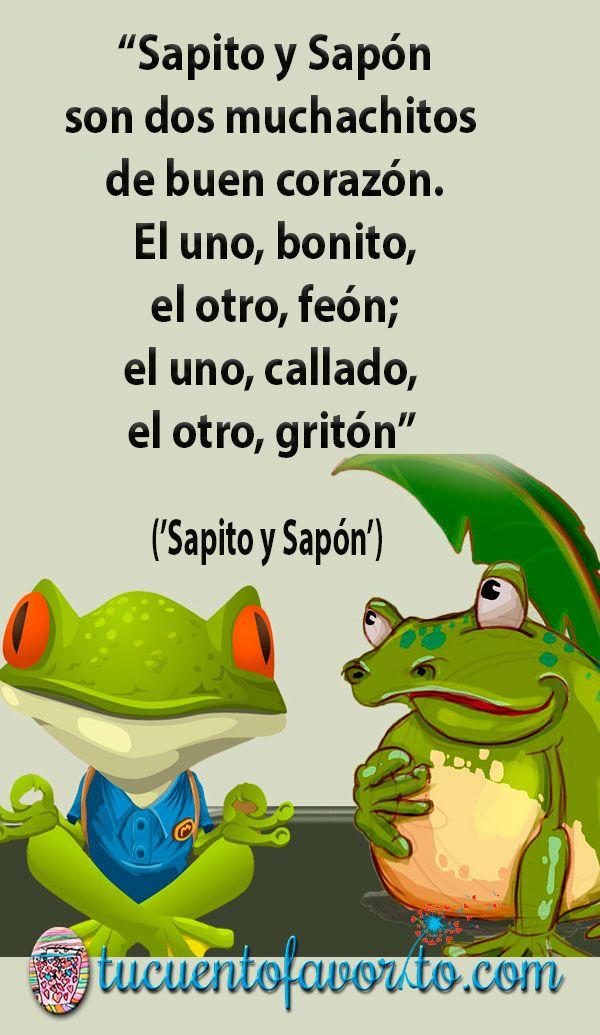 Poesía Sapito y Sapón 🐸