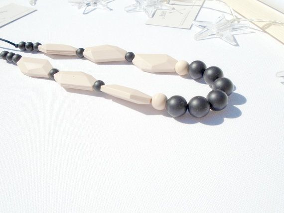 SALE Teething Necklace Silicone Beads DIY by InBetweenTheRaindrop