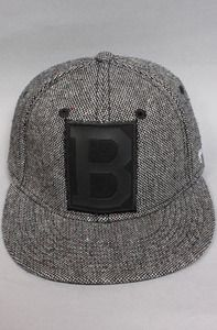 B Fitted Black Leather Tweed DJINNS Collaboration