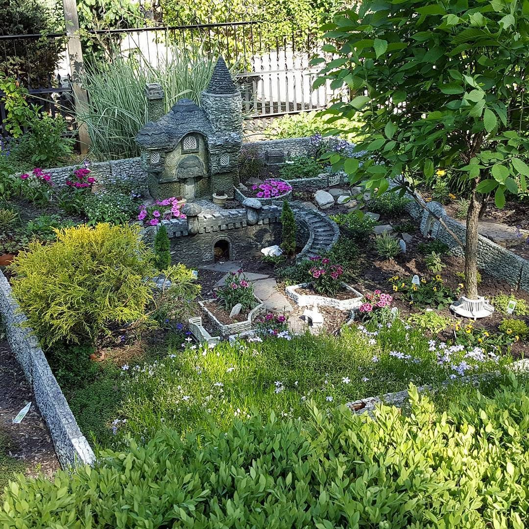 Large scale outdoor in ground fairy garden at our local Nursery ...